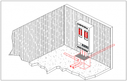 Isometric view of electric unit dwg file