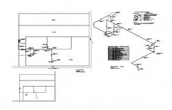 Isometric view of gas installation and hotel auto-cad details dwg file