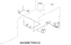 Isometric water pipe line detail layout file