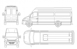 Iveco Daily plan detail dwg.
