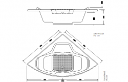 Jacuzzi plan and section detail dwg file