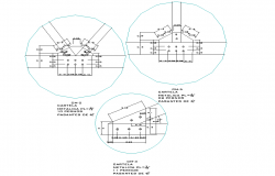 Joint roof section plan autocad file