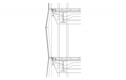 Joints and connection detail CAD construction structure 2d view layout dwg file