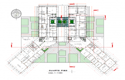 Justice court plan detail view dwg file