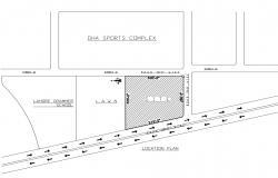 Key plan location layout of school