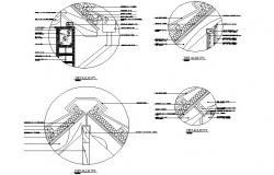 King post truss detail dwg file