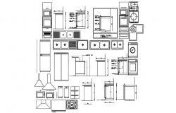 Kitchen Appliances AutoCAD Blocks Free Download