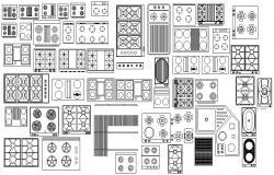 Kitchen Appliances AutoCAD Blocks