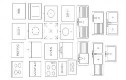 Kitchen Appliances CAD Blocks Free Download