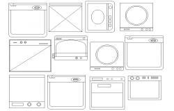 Kitchen Appliances CAD blocks download