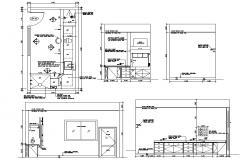 Kitchen Design Drawing CAD File