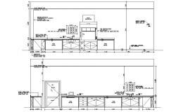 Kitchen Elevation Drawing CAD file