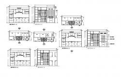 Kitchen Floor Plans CAD file