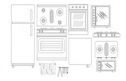 Kitchen Furniture AutoCAD Blocks Free Download