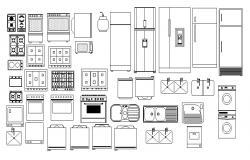 Kitchen Furniture DWG Drawing