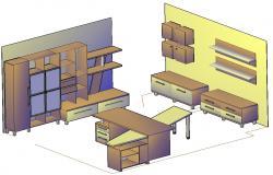 Kitchen Furniture Design 3d Model CAD File