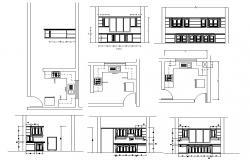 Kitchen Interior Plan DWG File