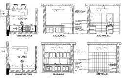 Kitchen Layout Plan CAD File