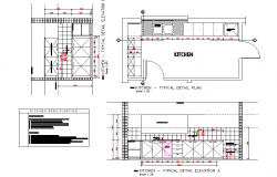 Kitchen Plan & Elevation detail