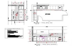 Kitchen Plan & Elevation detail