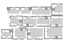 Kitchen Platform Design CAD File Download