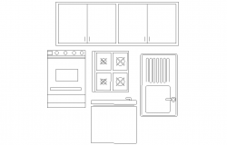 Kitchen accessory and furniture detail layout file