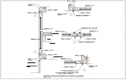 Kitchen and wash room beam & column section detail dwg file