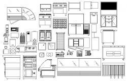 Kitchen blocks CAD file