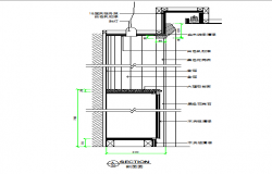 Kitchen cabinets and spotlights cad section design dwg file