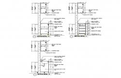 Kitchen constructive section and plumbing details dwg file
