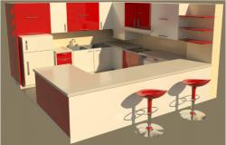 Kitchen design dwg file