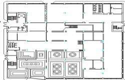 Kitchen design of corporate building dwg file