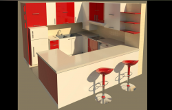 Kitchen design plan detail dwg file.