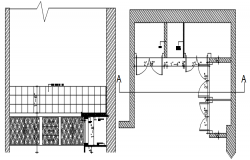 Kitchen design plan in autocad