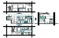 Kitchen detail design drawing