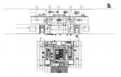 Kitchen display section and interior cad drawing drawing details dwg file