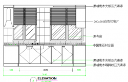 Kitchen elevation auto-cad details dwg file