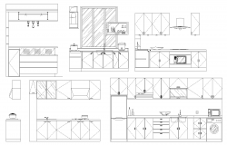 Kitchen elevation detail dwg.