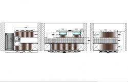 Kitchen elevations design in autocad dwg files