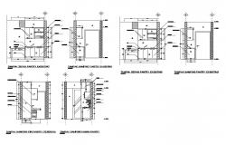 Kitchen existing pantry and furniture plan details dwg file