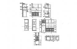 Kitchen furniture AutoCAD Block