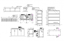 Kitchen furniture detail CAD blocks 2d view autocad file