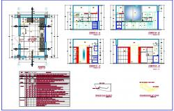 Kitchen interiors detail in autocad dwg files