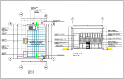 Kitchen plan and elevation plan detail dwg file