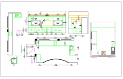 Kitchen plan detail dwg file