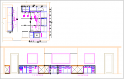 Kitchen plan layout dwg file