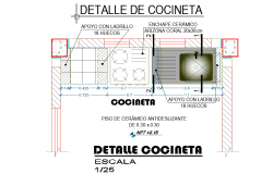 Kitchen planning detail autocad file