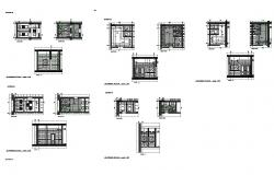 Kitchen section, plan, furniture and plumbing details dwg file