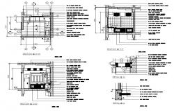 Kitchen section detail 2d view CAD block layout file in autocad format