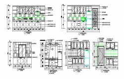 Kitchen sectional elevation details